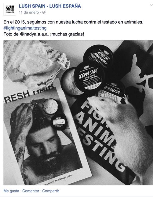 Lush fighting animal testing