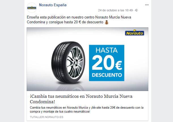 Norauto Promo Facebook