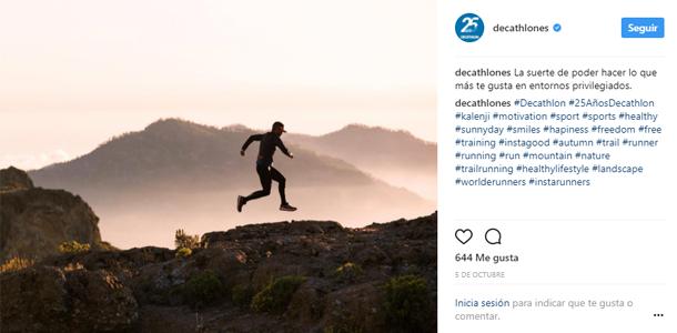 Instagram Decathlon España