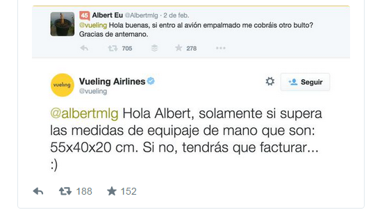 Vueling social media management